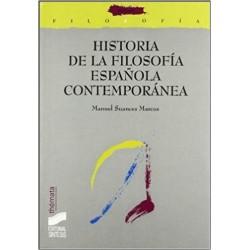Historia de la filosofía española contemporánea. Siglos XIX y XX