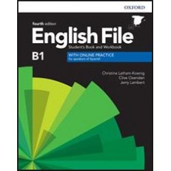 English file intermediate students book and workbook with key. With online practice for speakers of spanish
